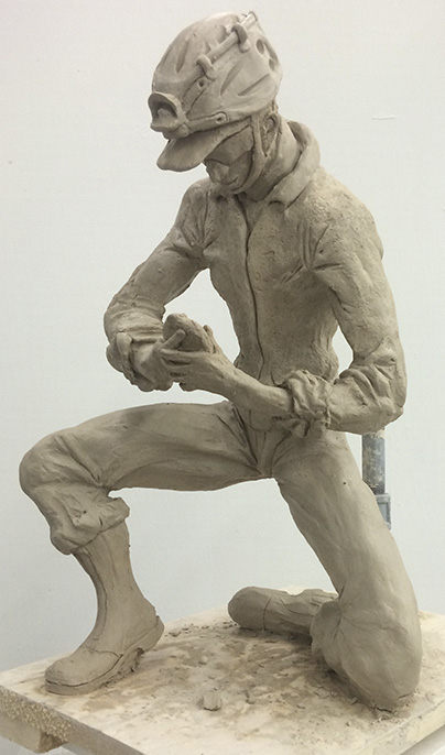 Sketching a spelunker using clay - Finished Look.